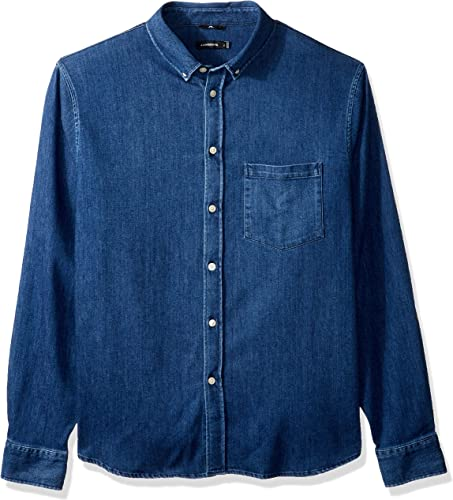 J.Lindeberg Hommes's Stretch Denim Shirt, Dark bleu, X-grand