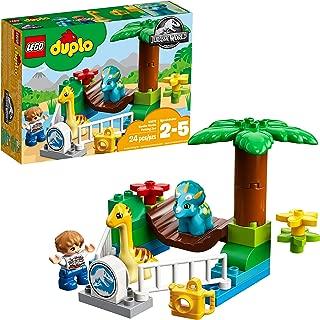 LEGO DUPLO Jurassic World Gentle Giants Petting Zoo 10879 Building Kit 24 pieces (Renewed)