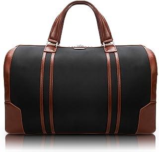 "McKlein Kinzie, 1680D Ballistic Nylon with Leather Trim, 20"" Nylon, Two-Tone, Tablet Carry-All Duffel, Black (78195)"