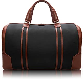 "McKlein Kinzie, 1680D Ballistic Nylon with Leather Trim, 20"" Nylon, Two-Tone, Tablet Carry-All Duffel, Black (78195)"