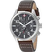 Citizen Chronograph Quartz Stainless Steel Black Dial Men's Watch
