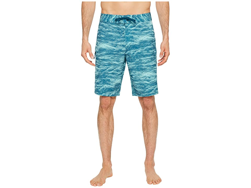 Under Armour UA Reblek Printed Boardshorts (Tropical Tide Desert Sky Tourmaline Teal) Men