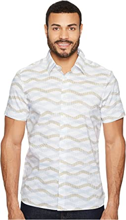 Perry Ellis - Horizontal Wave Shirt
