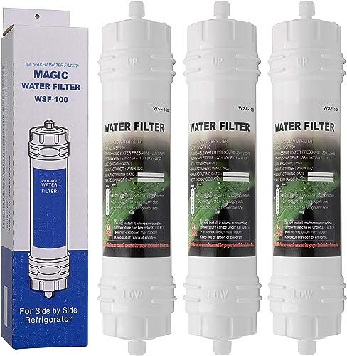 Magic Water Filter WSF-100 | Lot de 3 - Filtre à Eau pour réfrigérateur Samsung - Cartouche filtrante Externe pour fr...