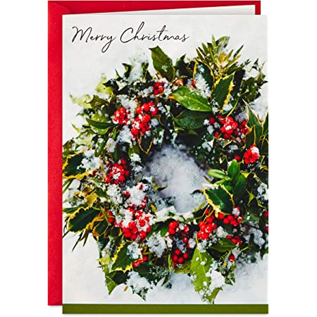 Hallmark Signature Christmas Card Green Wreath