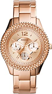 Fossil Womens Stella Quartz Stainless Steel and Stainless Casual Watch Color: Rose Gold (Model