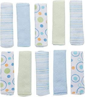 Zsedrut Newborn Towel Baby Muslin Washcloths,9.8x9.8 Inches,5 Pack Soft Natural Cotton Gauze for Toddler Delicate Skin White