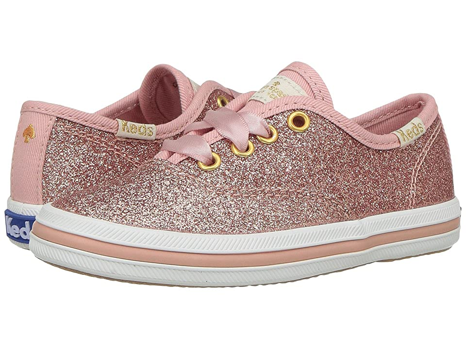 Keds x kate spade new york Kids Champion Glitter (Toddler) (Rose Gold) Girl