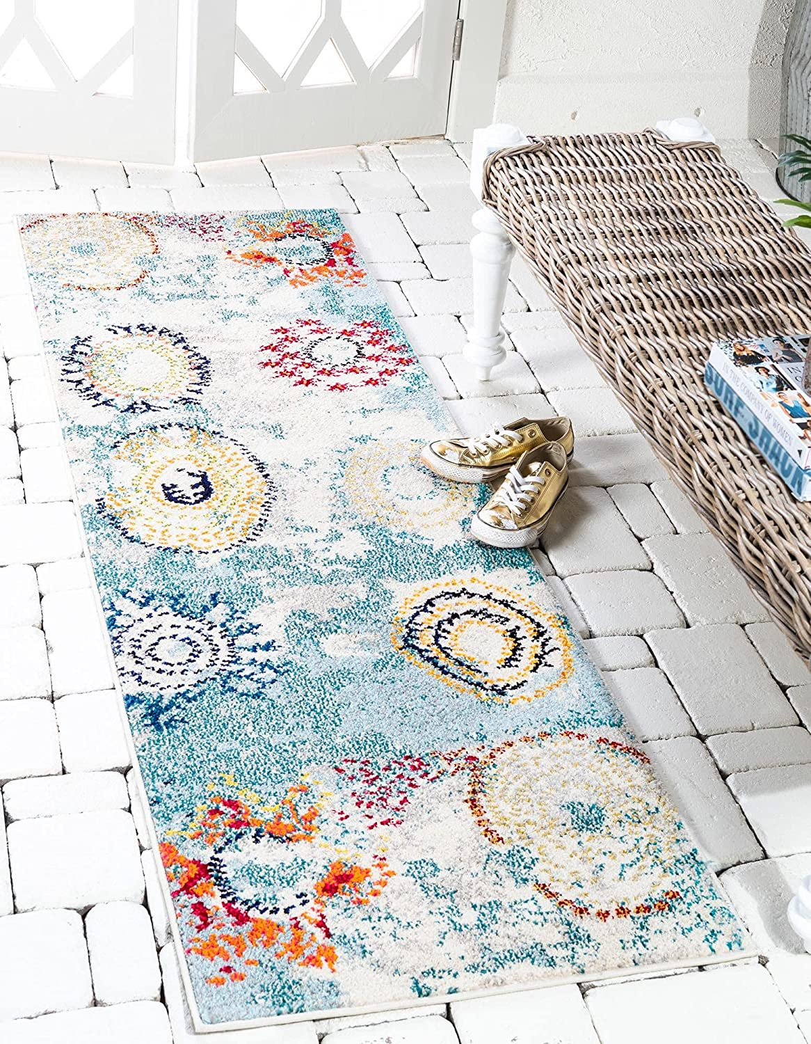 Recommended Unique Loom Estrella Ranking TOP9 Collection Colorful Runner 2 Abstract Rug