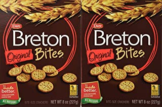 Dare Breton Minis Crackers, Original, 8-Ounce Packages (Pack of 12)