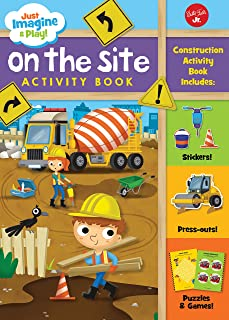 On the Site (Just Imagine and Play): Sticker & punch-out activity book