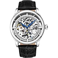"Stuhrling Original Mens ""Specialty Winchester"" Skeleton Automatic Self Winding Dress Watch With..."