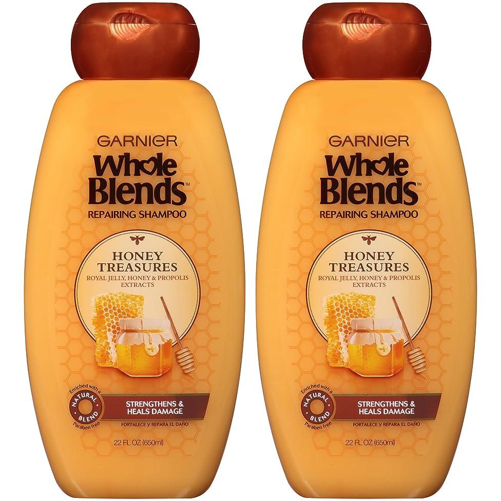 Garnier Whole Blends Repairing Shampoo Honey Treasures, For Damaged Hair, 22 fl. oz.