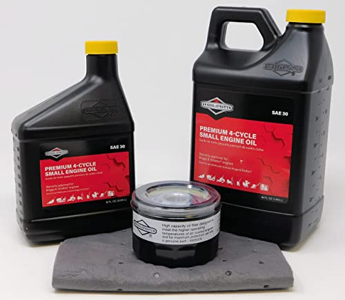 lowest Briggs & Stratton outlet sale 66 oz SAE 30 Oil Change Kit w/ 492932s new arrival Filter online sale