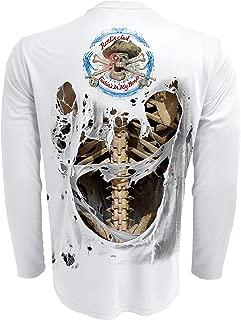 Men's UPF 50+ Fishing Skeleton Performance Long Sleeve Shirt
