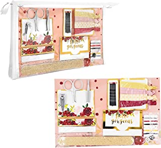 Kate Aspen Women's Burgundy Blush Floral Wedding Survival Kit, Pink, Red, White and Silver, One Size