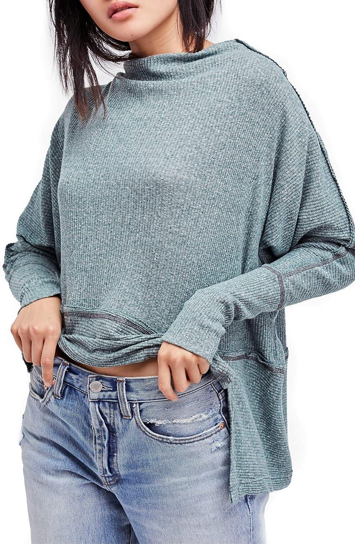 Free People Womens Londontown Thermal Basic T-Shirt