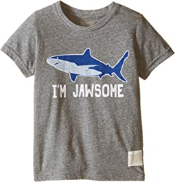 The Original Retro Brand Kids - I'm Jawsome Shark Short Sleeve Tri-Blend Tee (Little Kids/Big Kids)