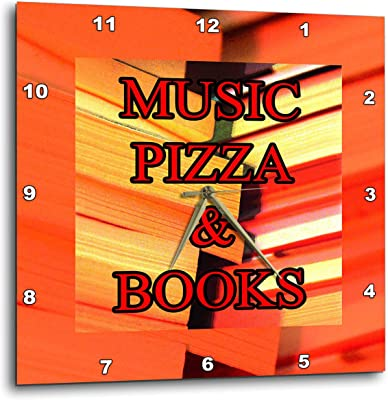 3dRose BlakCircleGirl - Humor - Music Pizza and Books - Three Fundamental Things in Life -