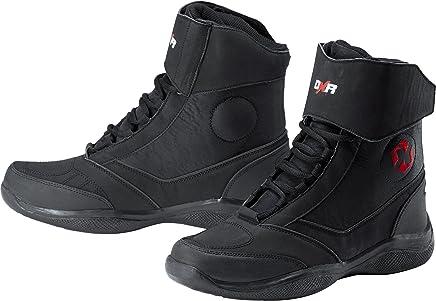 DXR Botas De Moto Botas de Motorista Zapatos de Motorista Hombres, Mujeres y niños, Botas de Motorista con Suela Antideslizante, Cubierta de Tobillo, Forro Transpirable, Negro