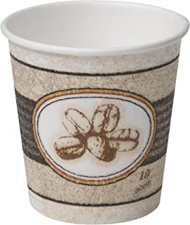 Dixie PerfecTouch 10 oz. Insulated Paper Hot Coffee Cup by GP PRO (Georgia-Pacific), Bean Design, 5310BE, 1,000 Count (50 Cups Per Sleeve, 20 Sleeves Per Case)