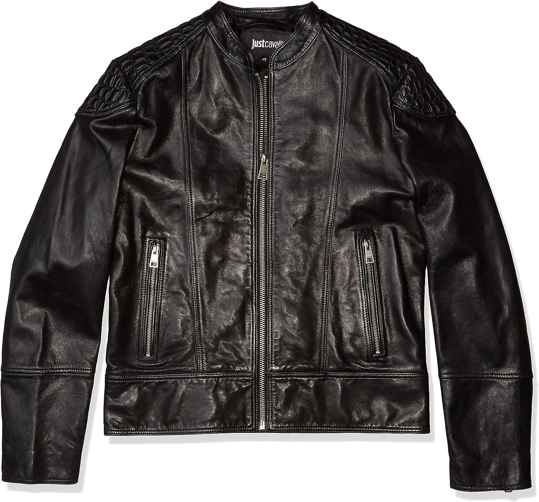 Just Cavalli Mens Leather Jacket