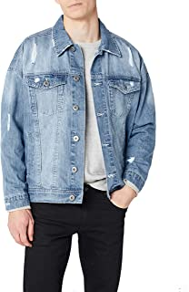 Urban Classics Ripped Denim Jacket Giacca in Jeans Uomo