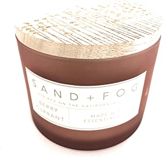 Sand And Fog Apple Spice Candle With Essential Oils 12 Oz