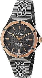 EDOX - Reloj de Mujer 54004 37GRM Gir Delfin con Pantalla analógica de Cuarzo Suizo Gris