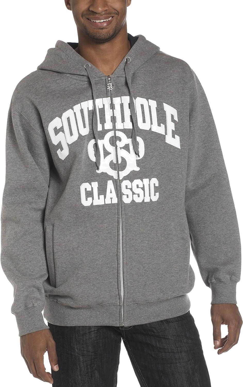 Southpole Men's Screen Print Fleece Full Zip Hoody