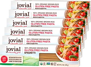 Jovial Spaghetti Gluten-Free Pasta | Whole Grain Brown Rice Spaghetti Pasta | Non-GMO | Lower Carb | Kosher | USDA Certifi...
