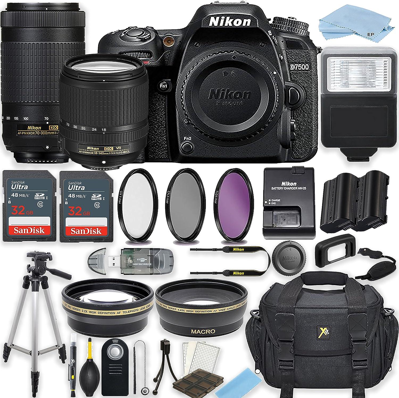 Super sale period limited Nikon Large-scale sale D7500 20.9 MP DSLR Camera NIKKO Black DX AF-S with
