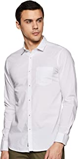 Amazon Brand - Symbol Men's Printed Regular Fit Full Sleeve Cotton Casual Shirt