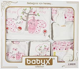 Babyx 7052K Kedili Kız Hastane Çıkış Setleri, 11'li
