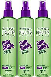 Sponsored Ad - Garnier Fructis Style Curl Shape Defining Spray Gel for Curly Hair, 8.5 Fl Oz, Pack of 3