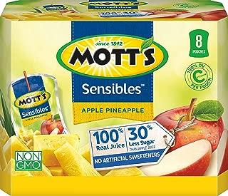 Mott's Sensibles Apple Pineapple Juice, 6 Fluid Ounce Drink Pouches, 8 Count