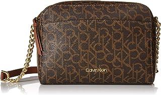 Calvin Klein Hayden Monogram Top Zip Chain Crossbody