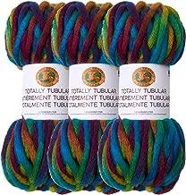 (3 Pack) Lion Brand Yarn 933-205 Totally Tubular Yarn, Rainbow Fish