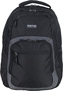 """Kenneth Cole Reaction Contour Polyester Double Compartment 16"""" Laptop Backpack"""