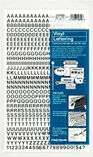 Chartpak Self-Adhesive Vinyl Capital Letters and Numbers, 1/4 Inches High, Black, 610 per Pack (01000)