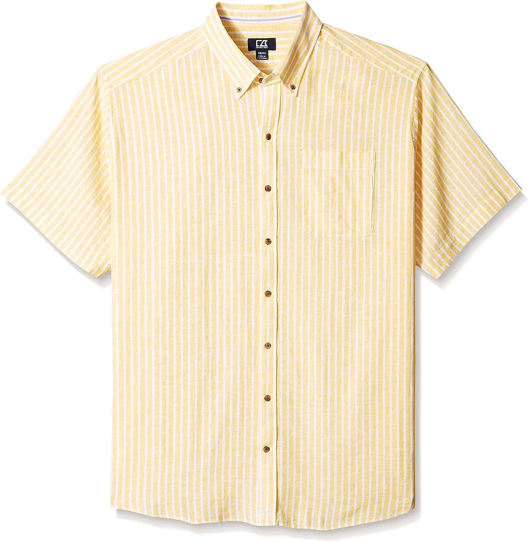 Cutter & Buck Men's Big and Tall Short Sleeve Gulf Stripe Shirt