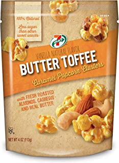7-Select Caramel Nut Popcorn Clusters (Butter Toffee Caramel) 4 oz. per Bag, 6 Resealable Bags