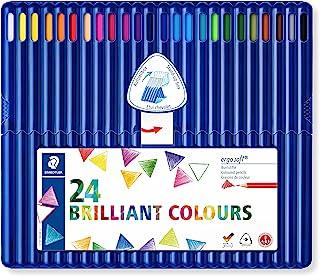 STAEDTLER 157 SB24 trójkątne kredki Ergosoft - różne kolory, 24 sztuki