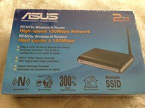 ASUS RT-N10+ - Router (10, 100 Mbit/s, 10/100Base-T(X), 802.11b, 802.11g, 802.11n, 1, 2, 5.5, 6, 9, 11, 12, 18, 24, 36, 48, 54, 150 Mbit/s, Ethernet (RJ-45), IEEE 802.11b, IEEE 802.11e, IEEE 802.11g, IEEE 802.11n, IEEE 802.3, IEEE 802.3i, IEEE 802.3u) Negro