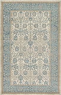 Luxury Vintage Persian Design Tabriz Rug Cream 5' x 8' St.George Collection Area Rugs
