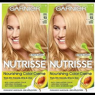 Garnier Hair Color Nutrisse Nourishing Creme, 93 Light Golden Blonde (Honey Butter), 2 Count