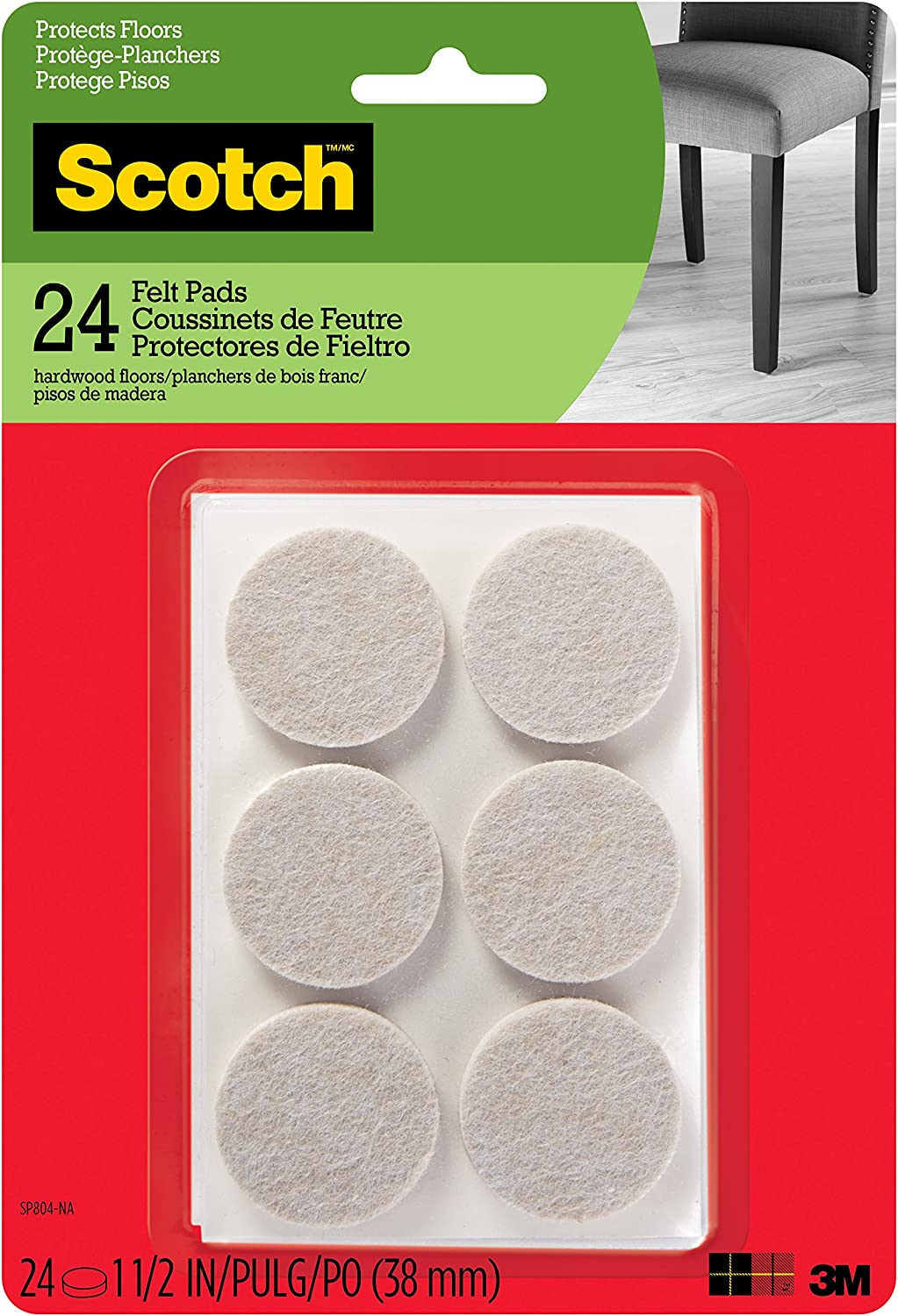Scotch Felt Pads Furniture Hardwood Max 42% OFF New arrival Fl Protecting for