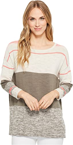 Tribal Long Sleeve Stripe Sweater