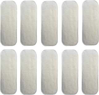 (10 Pack) HappyEndingsTM Newborn 4 Layer Hemp/Organic Cotton Inserts for Diapers
