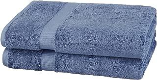 Pinzon Organic Cotton Bath Sheet Towel, Set of 2, Indigo Blue